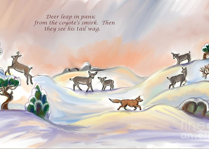 Nature Greeting Card featuring the digital art Illustrated Haiku 3 - Age 17 by Dawn Senior-Trask