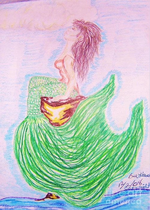 Mermaid Greeting Card featuring the greeting card Im Free by Beverly Howell