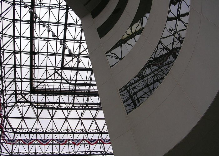 Architiecture Greeting Card featuring the photograph I.m. Pei - Point Of View by Nancy Ferrier