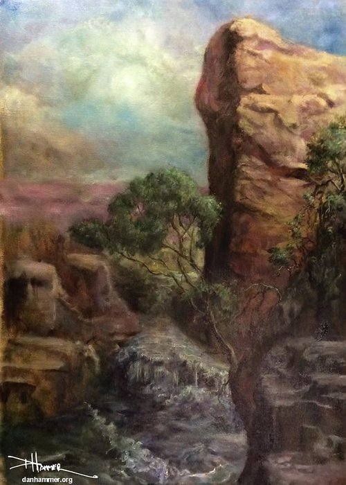 Greeting Card featuring the painting Imagined Landscape by Dan Hammer
