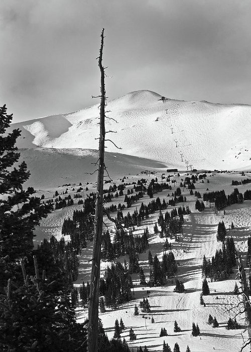 Breckenridge Greeting Card featuring the photograph Imperial Bowl And Peak 8 At Breckenridge Resort Colorado by Brendan Reals