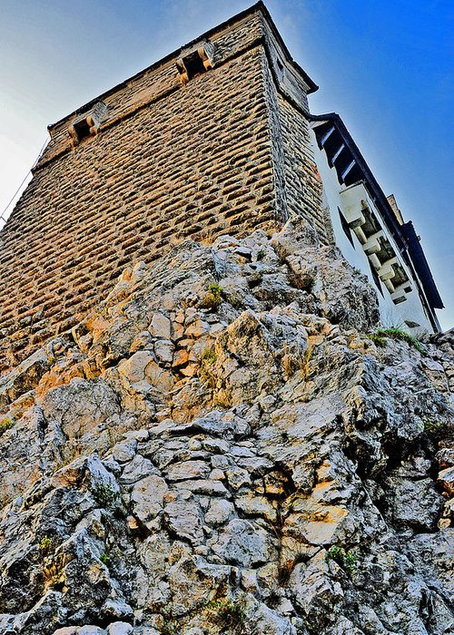 Dracula's Castle Greeting Card featuring the photograph Impregnable Wall. Bran Castle - Dracula's Castle. by Andy Za