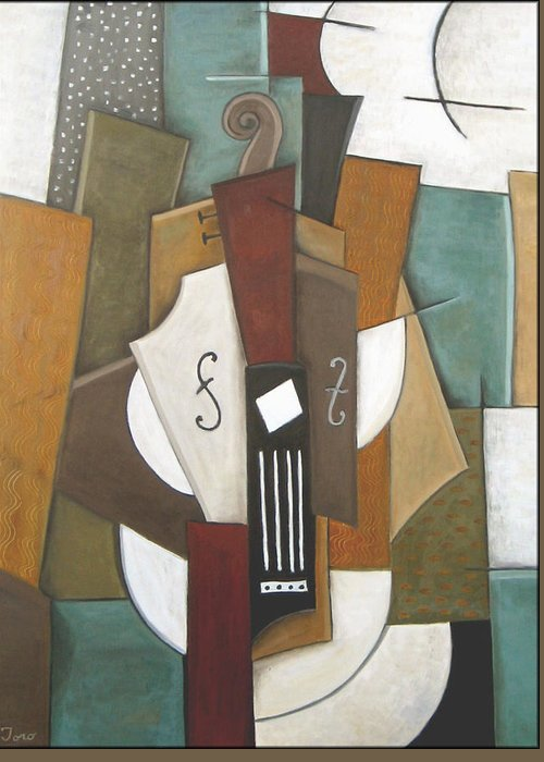 Cubism Greeting Card featuring the painting Impromptu by Trish Toro
