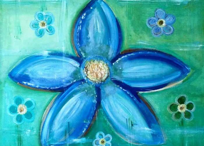 Acrylic Painting Greeting Card featuring the painting In Bloom by Camy De Mario