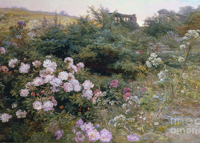 Full Greeting Card featuring the painting In Full Bloom by Henry Arthur Bonnefoy