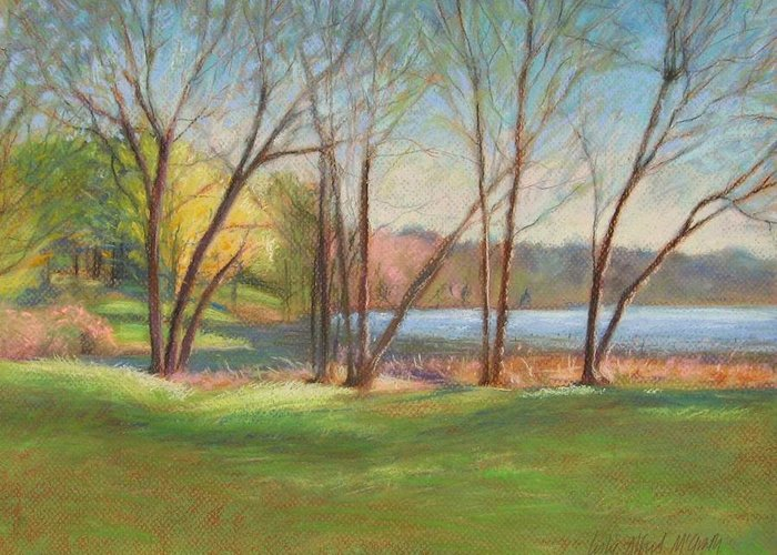 Mcgrath Greeting Card featuring the painting In Just Spring At Plug by Leslie Alfred McGrath