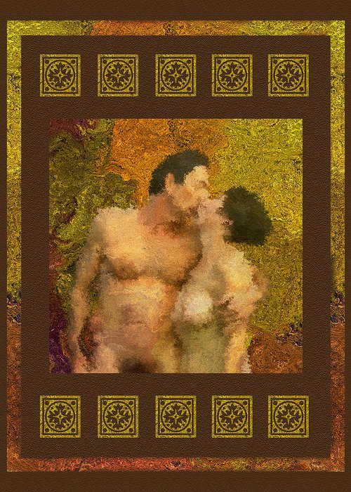 Nudes Greeting Card featuring the photograph In Love by Kurt Van Wagner