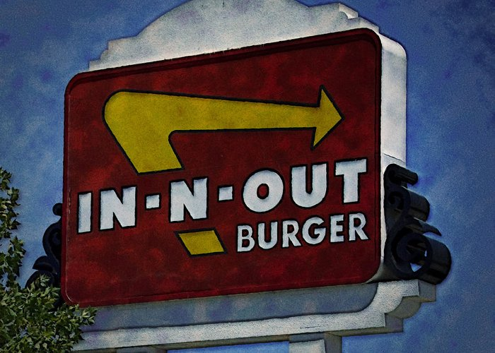 In Greeting Card featuring the photograph In-n-out by Ricky Barnard