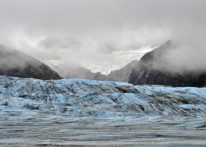 Herbert Glacier Greeting Card featuring the photograph In The Clouds by Cathy Mahnke