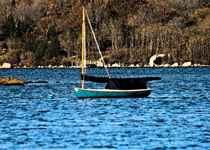 Sail Boat Greeting Card featuring the photograph In The Cove by Gerald Mitchell