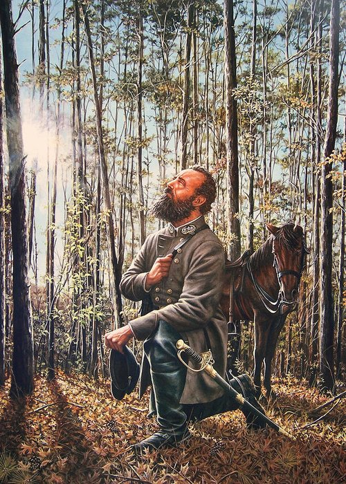 Civil War Greeting Card featuring the painting In The Hands Of Providence by Dan Nance