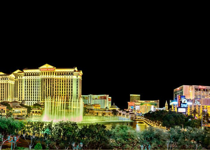 Bellagio Fountains Greeting Cards