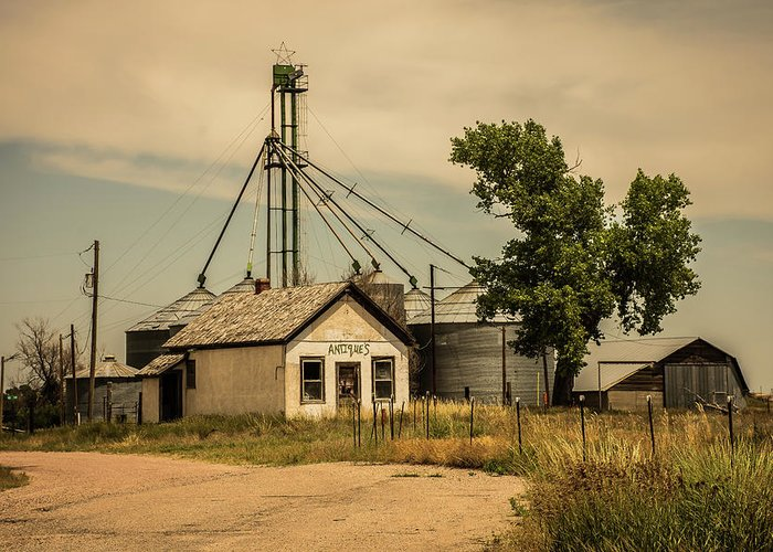 Midwest Greeting Card featuring the photograph In The Middle Of Nowhere by Greg Sommer
