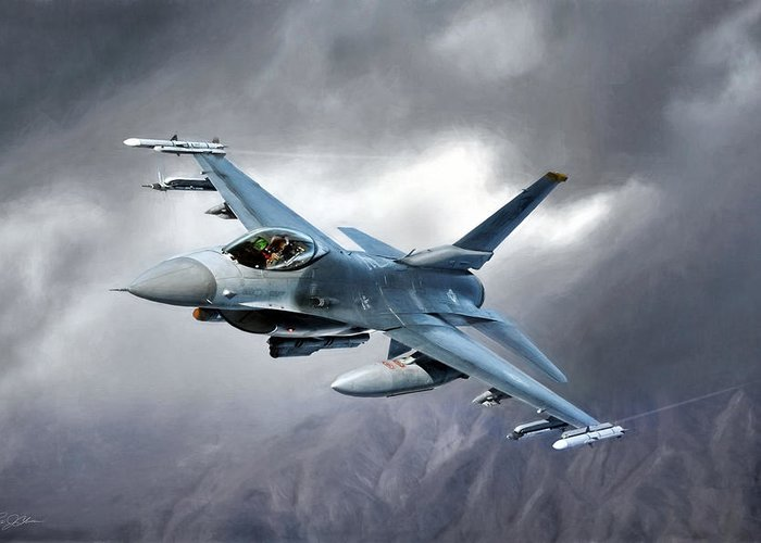 F-16 Greeting Cards
