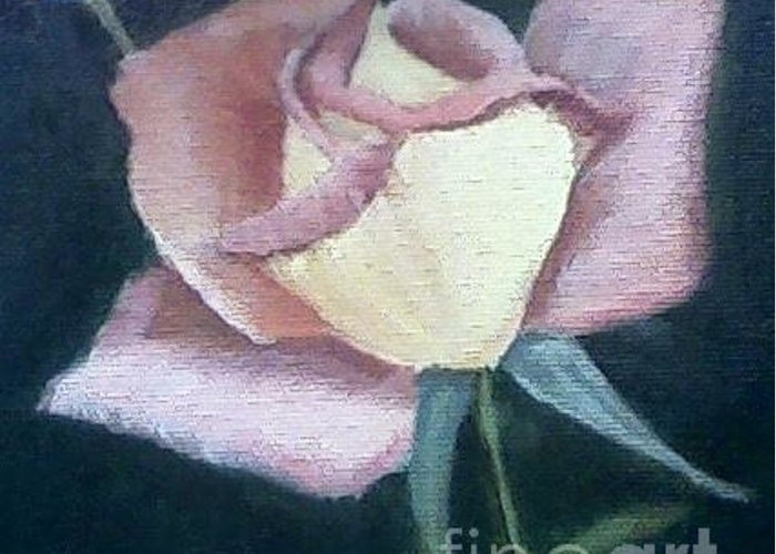 Roses Greeting Card featuring the painting In The Pink by Joanne Dour