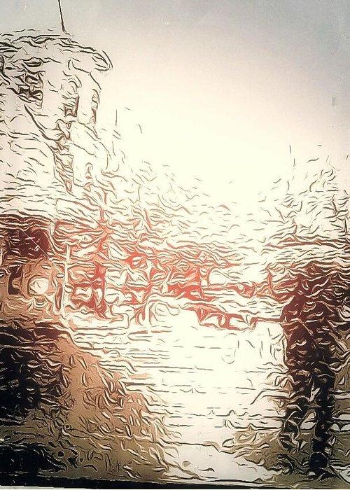 Rain Greeting Card featuring the photograph In The Rain by Eddie G
