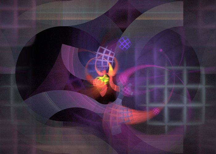 Graceful Greeting Card featuring the digital art In The Year Of The Tiger - Fractal Art by Nirvana Blues