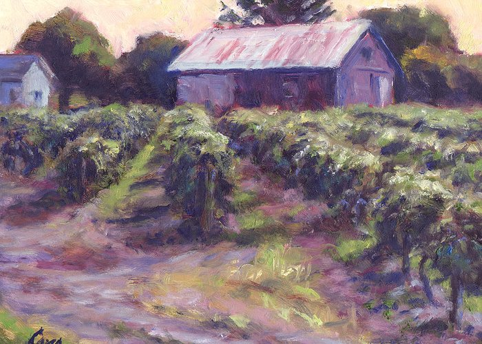 Nature Greeting Card featuring the painting In Wine Country by Michael Camp