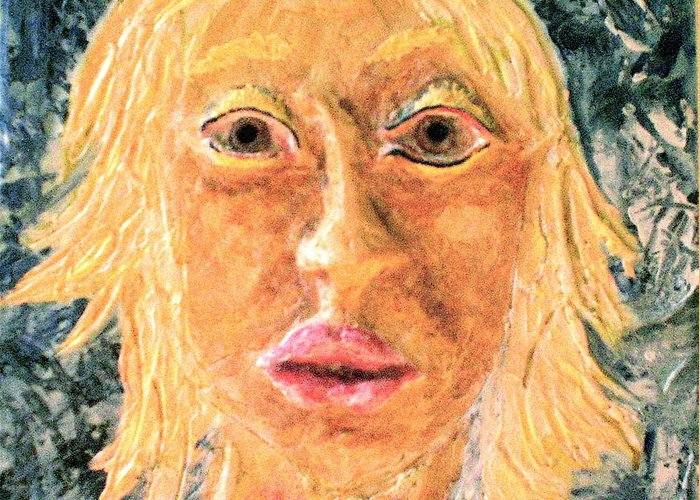 Portraits Greeting Card featuring the painting Inanna by Kime Einhorn