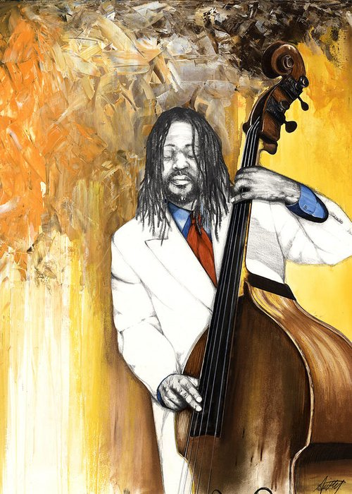 Music Greeting Card featuring the mixed media Inauguration by Anthony Burks Sr