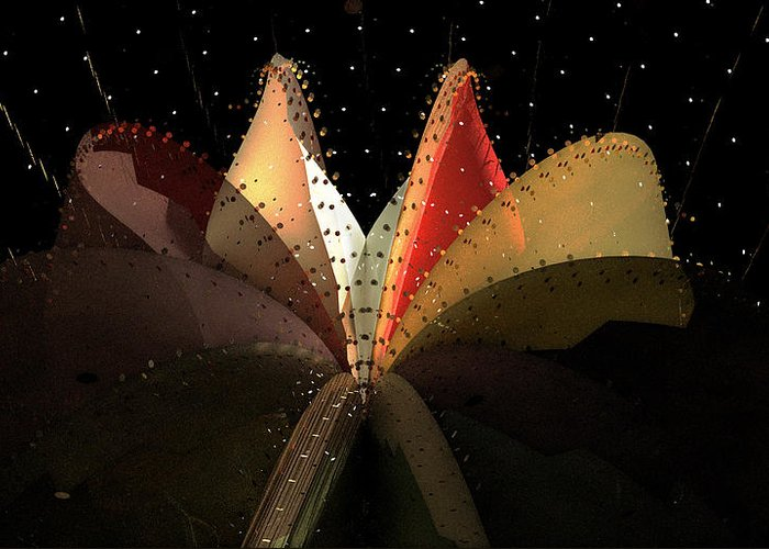Aiden Humphrey Greeting Card featuring the digital art Incendo 2 by Aiden Humphrey