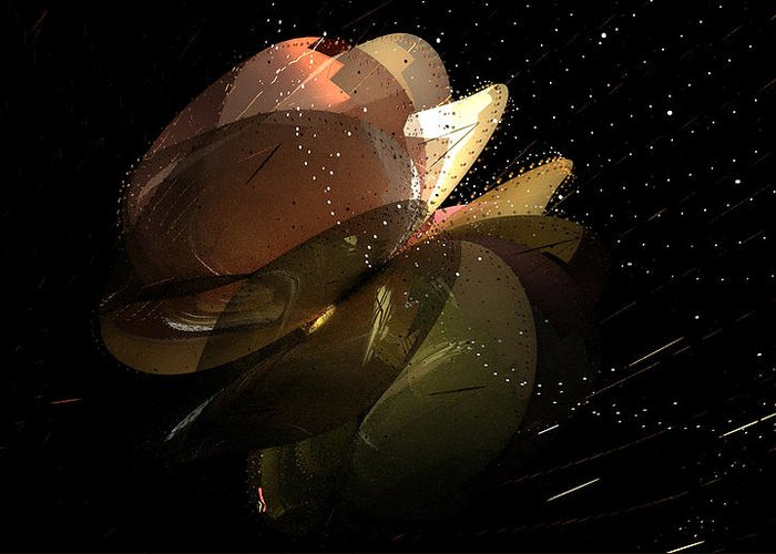 Aiden Humphrey Greeting Card featuring the digital art Incendo 3 by Aiden Humphrey
