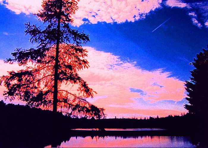 Landscape Greeting Card featuring the photograph Incoming Over Algonquin Park 2 Ae by Lyle Crump