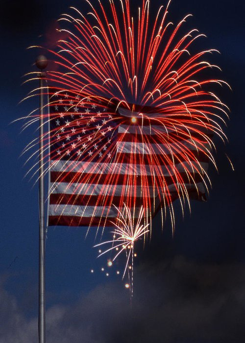 Flag Greeting Card featuring the photograph Independence Day by Skip Willits