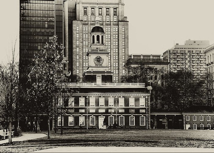 Philadelphia Greeting Card featuring the photograph Independence Hall by Bill Cannon