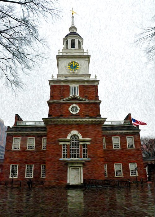 Independence Hall In Philadelphia Greeting Card featuring the photograph Independence Hall In Philadelphia by Bill Cannon