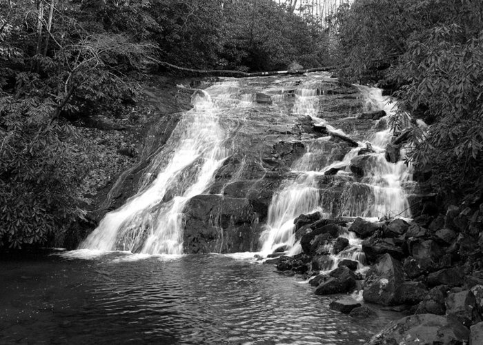 Nature Greeting Card featuring the photograph Indian Falls At Deep Creek by Kathy Schumann