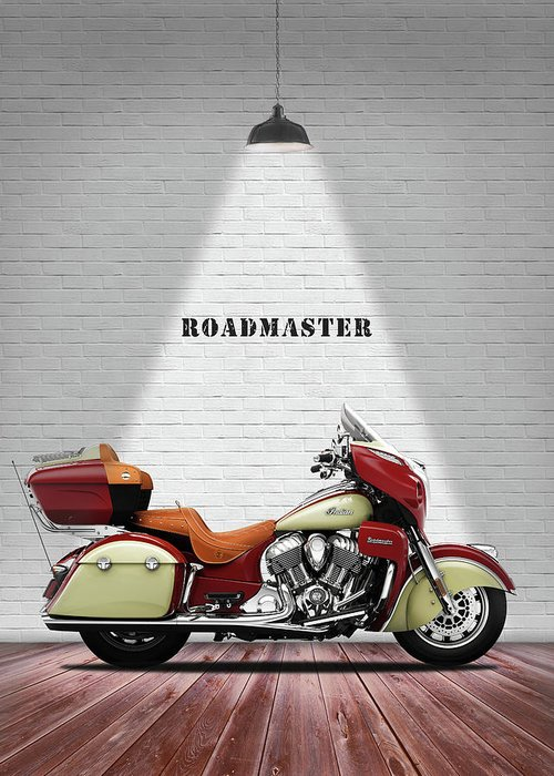 Indian Roadmaster Greeting Card featuring the photograph The Roadmaster by Mark Rogan