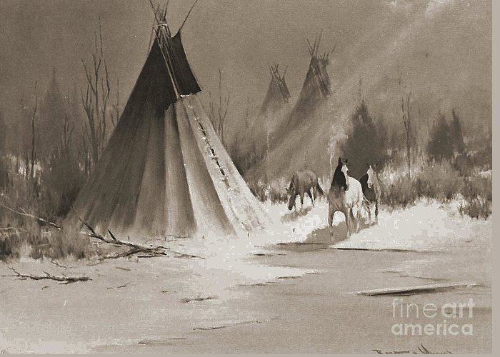 American Greeting Card featuring the photograph Indian Tee Pee by Gary Wonning
