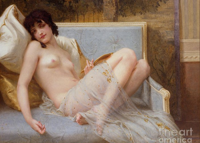 Indolence Greeting Card featuring the painting Indolence by Guillaume Seignac