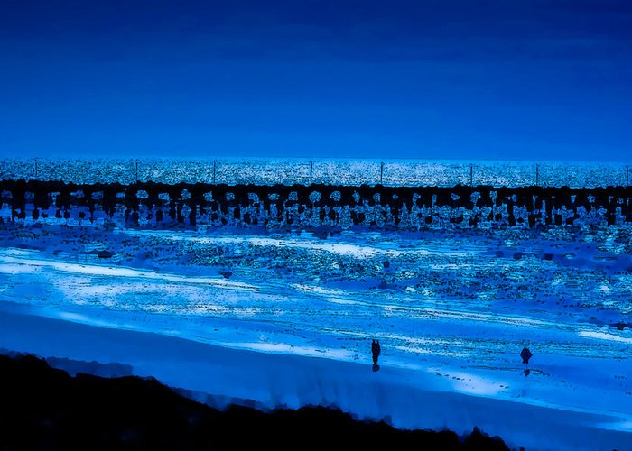 Sea Greeting Card featuring the photograph Infinite Blue by John Pagliuca