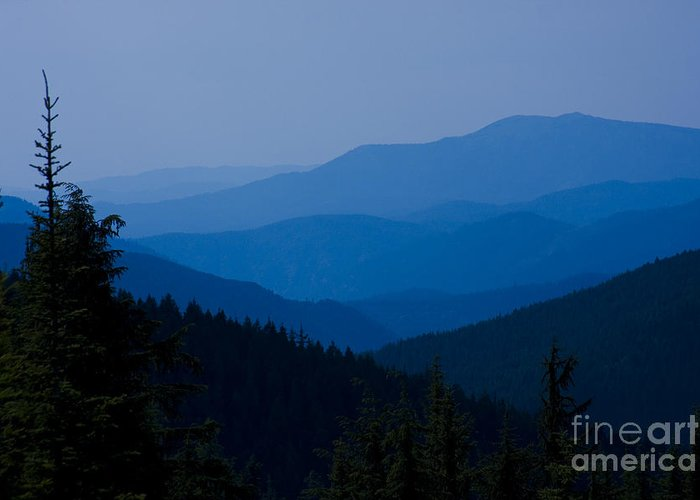 Mountain Greeting Card featuring the photograph Infinity by Idaho Scenic Images Linda Lantzy