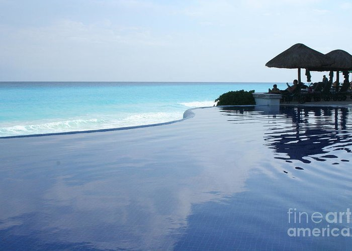 Infinity Greeting Card featuring the photograph Infinity Pool by Thomas Marchessault