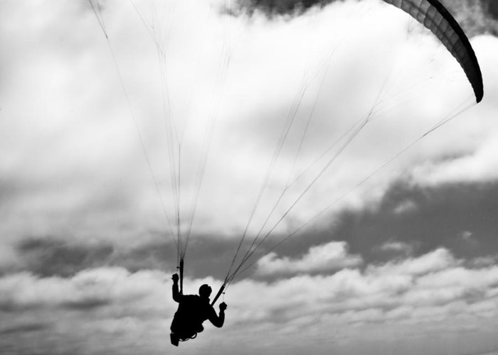 Paraglider Greeting Card featuring the photograph Infinity by Thomas Splietker