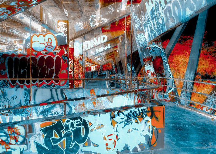 Marine Greeting Card featuring the photograph Infrared Marine Stadium 2nd Floor by Coco Moni