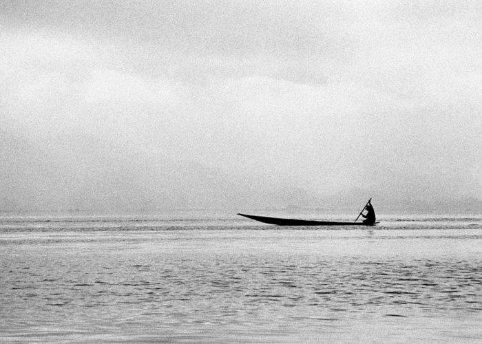Inle Lake Greeting Card featuring the photograph Inle Boat by Marcus Best