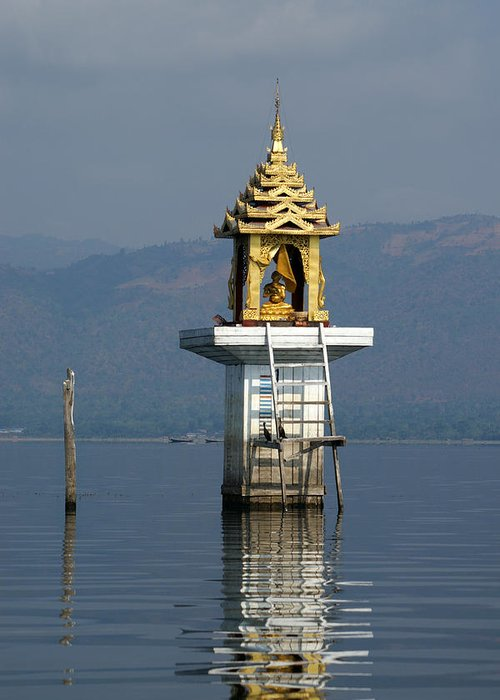 Inle Lake Greeting Card featuring the photograph Inle Lake Temple by Jessica Rose