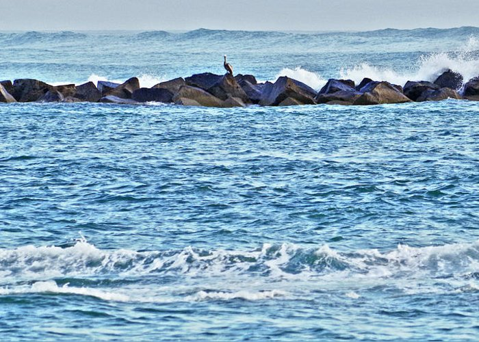Inlet Greeting Card featuring the photograph Inlet Waves by Bruce Roker
