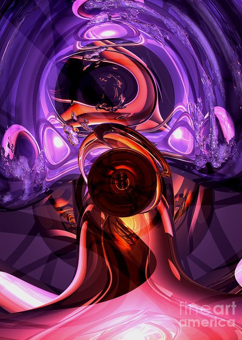 3d Greeting Card featuring the digital art Inner Feelings Abstract by Alexander Butler