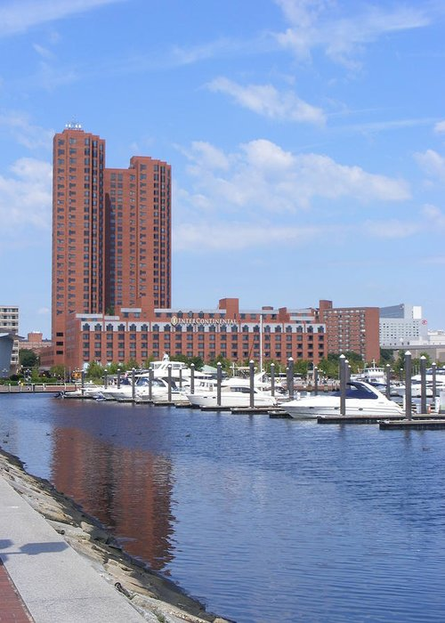 Baltimore Greeting Card featuring the photograph Inner Harbor by James and Vickie Rankin