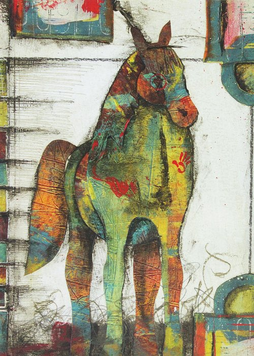 Horse Images Mixed Media Greeting Cards