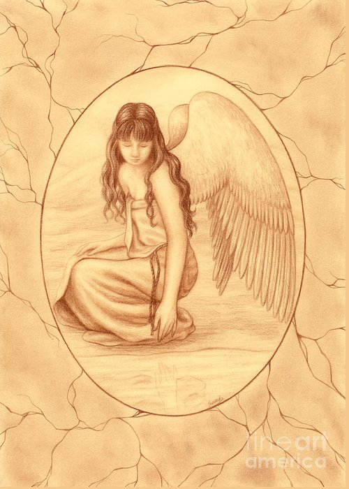 Angelical Drawings Greeting Cards