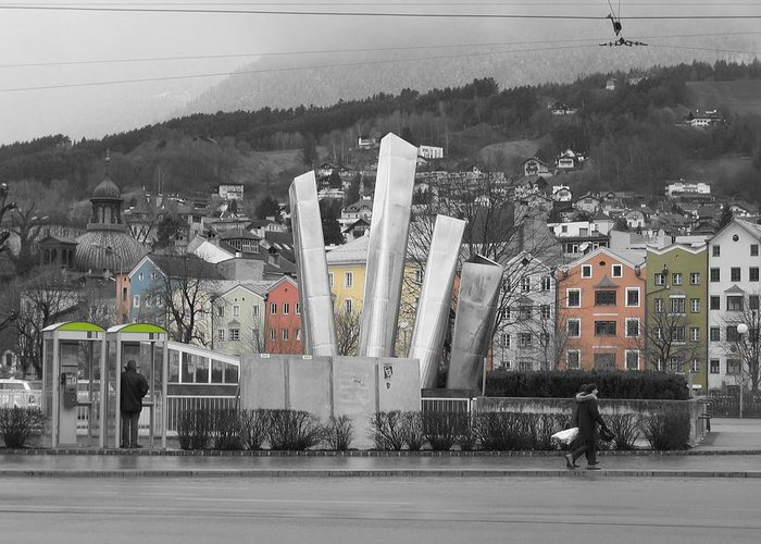 Abstract Greeting Card featuring the photograph Innsbruck Art by Dylan Punke