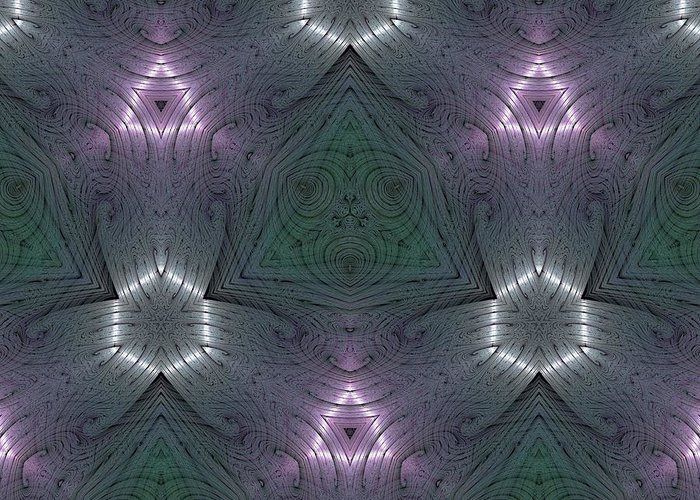 Kaleidoscope Greeting Card featuring the digital art Inside The Crystal by Ricky Kendall