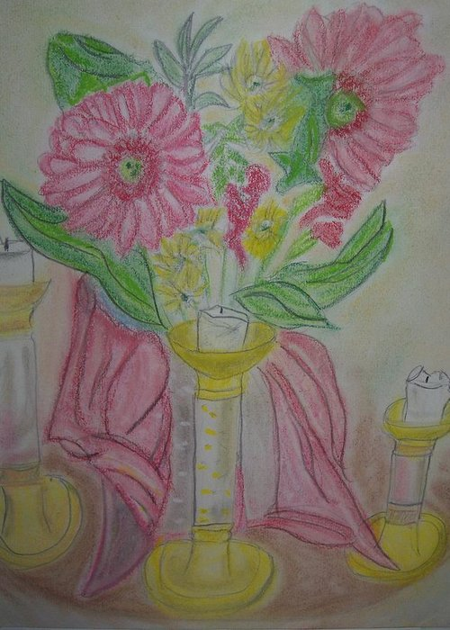 Tradition Pastels Greeting Card featuring the pastel Inspiration by Ann Whitfield