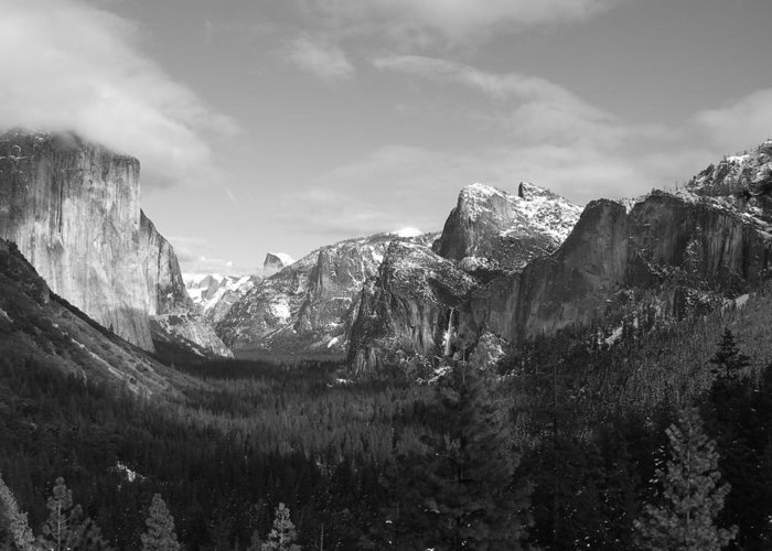 Yosemite Greeting Card featuring the photograph Inspiration Point by Travis Day